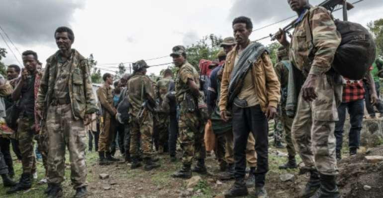 Members of the Amhara militia in Ethiopia have mobilised en masse.  By EDUARDO SOTERAS (AFP)