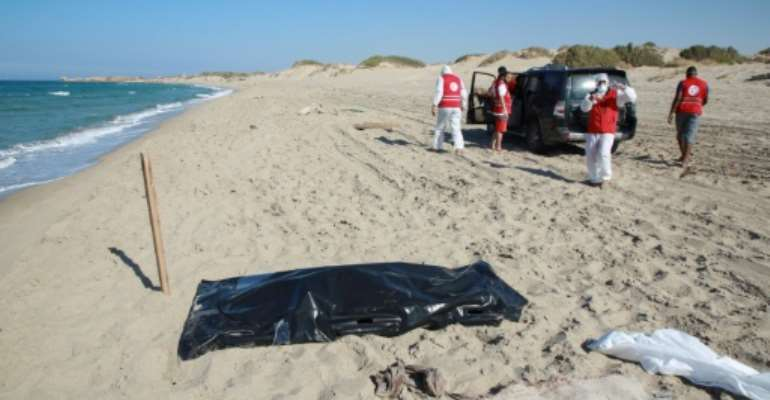Members of the Libyan Red Crescent have been recovering the bodies.  By - (AFP/File)