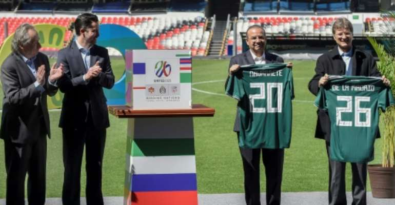 Mexico is part of a joint bid including the US and Canada for the 2026 World Cup.  By ALFREDO ESTRELLA (AFP)