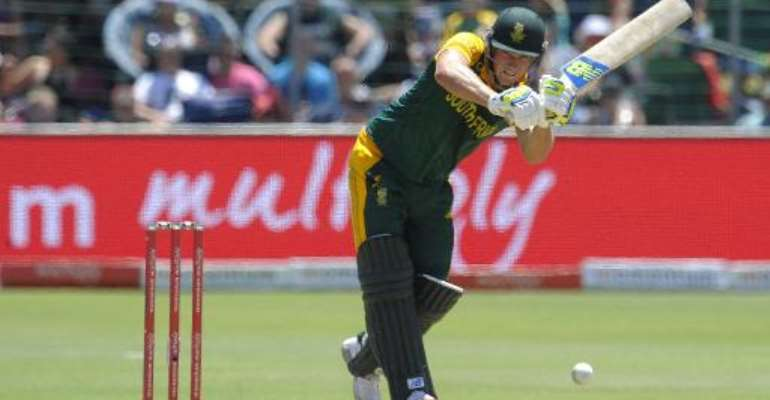 South Africa batsman David Miller plays a shot during the fourth one-day international against West Indies at St George's Park in Port Elizabeth on January 25, 2015.  By Gianluigi Guercia (AFP)