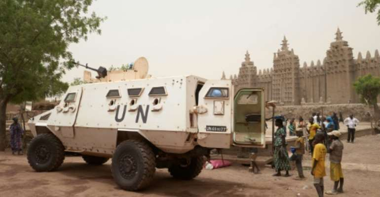 MINUSMA, the UN's peacekeeping operation in Mali, accounts for more than half of blue helmets killed globally in the past five years.  By MICHELE CATTANI (AFP/File)