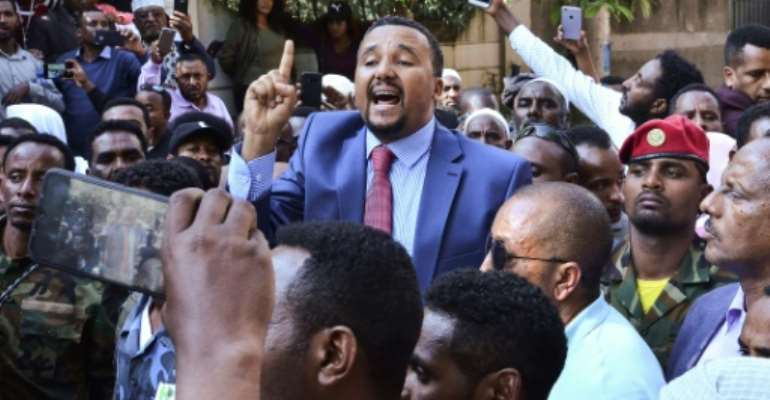 Mired in controversy, Jawar Mohammed says he is running for office.  By STRINGER (AFP)