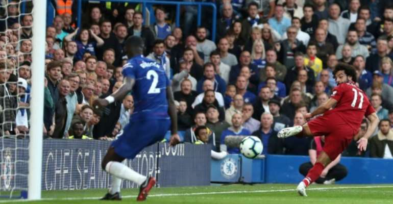 Mohamed Salah again struggled to find the net as Liverpool drew at Chelsea.  By Daniel LEAL-OLIVAS (AFP/File)
