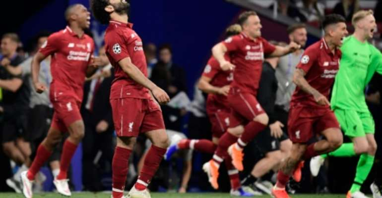 Mohamed Salah scored the opening goal as Liverpool banished the pain of last year's defeat in the final.  By JAVIER SORIANO (AFP)