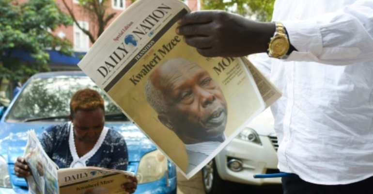 Moi was praised for keeping Kenya a relative haven of peace during a chaotic period in east Africa.  By SIMON MAINA (AFP/File)