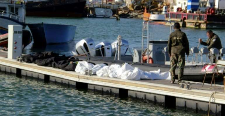 More than 40 people were on board the makeshift boat, a spokesman for the Sfax court told AFP.  By HOUSSEM ZOUARI (AFP)