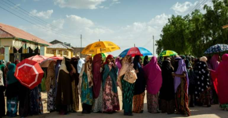 More than a million people were eligible to vote in the long-delayed elections.  By Mustafa SAEED (AFP/File)