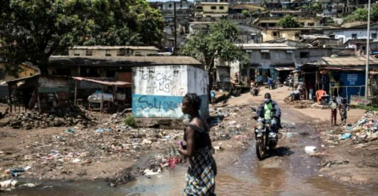 More than half of the population of some 13 million people live below the poverty line.  By JOHN WESSELS (AFP/File)
