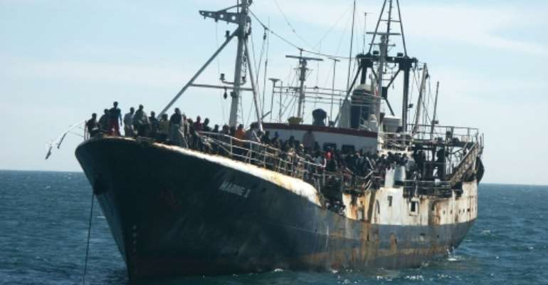 More vessels are trying to take the migration route along West Africa's coast to Spain.  By MICHAEL TSCHANZ (IOM PRESS OFFICE/AFP)