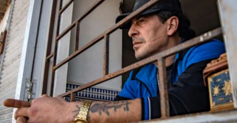 Moroccan YouTuber and former prisoner Mohamed Moustadraf   is a former drug trafficker who accumulated a total of 23 years behind bars.  By FADEL SENNA (AFP)