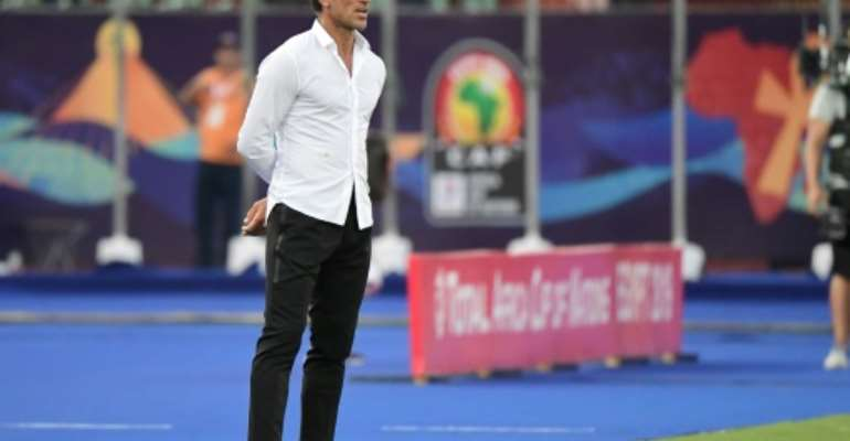 Morocco coach Herve Renard watches an Africa Cup of Nations Group D match against Namibia in Cairo.  By JAVIER SORIANO (AFP)