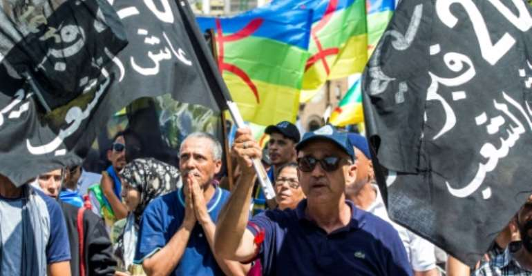 Morocco has been hit by a wave of social unrest which began in October 2016 after the death of a fisherman and spiralled into protests demanding more development in the neglected Rif region and railing against corruption and unemployment.  By FADEL SENNA (AFP/File)