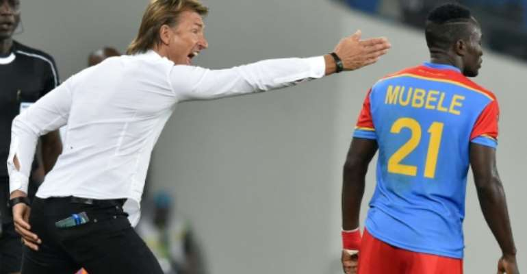 Morocco's French coach Herve Renard, seen in action during their 2017 Africa Cup of Nations Group C match between against DR Congo, in Oyem, on January 16.  By ISSOUF SANOGO (AFP/File)