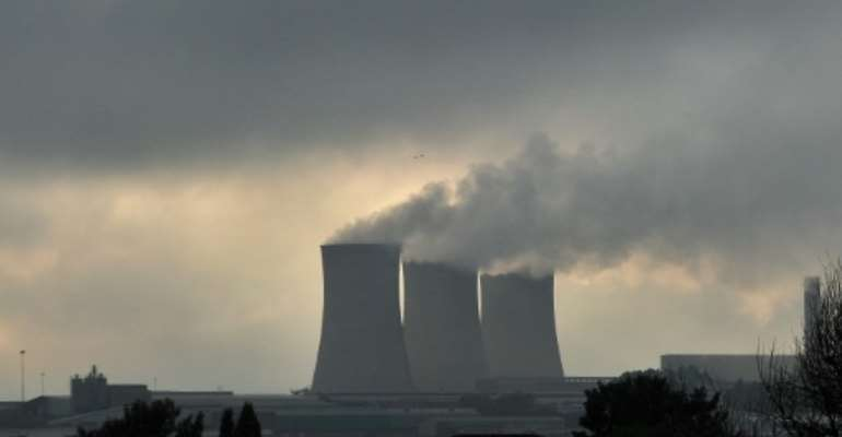Most of South Africa's electricity currently comes from coal-fired power plants.  By ALEXANDER JOE (AFP/File)