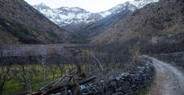 Mountains near the tourist village of Imlil in the High Atlas range, Morocco, where two Scandinavian tourists were murdered in December 2018.  By FADEL SENNA (AFP/File)