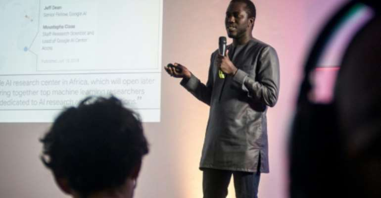 Moustapha Cisse, head of Google Artificial Intelligence (AI) centre in Ghana, wants to collaborate with local universities and start-ups.  By CRISTINA ALDEHUELA (AFP/File)
