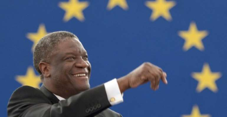 Dr. Denis Mukwege, seen in France on November 26, 2014, is the subject of the film