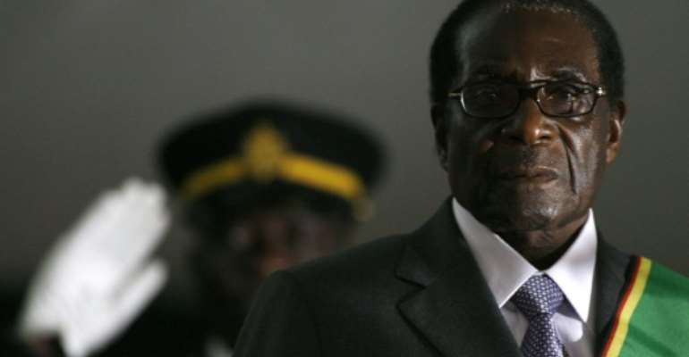 Mugabe ruled Zimbabwe for decades until he was ousted in 2017 by military generals who turned against him.  By ALEXANDER JOE (AFP/File)