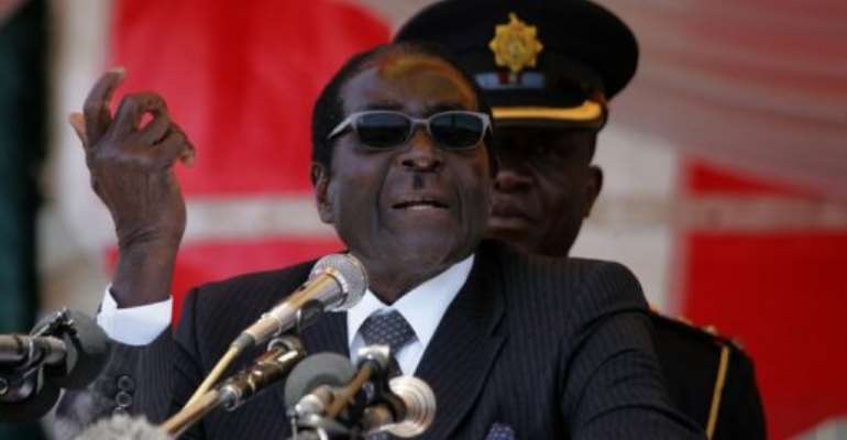 Robert Mugabe was chosen in December by his ZANU-PF party to stand again as its presidential candidate.  By Jekesai Njikizana (AFP)