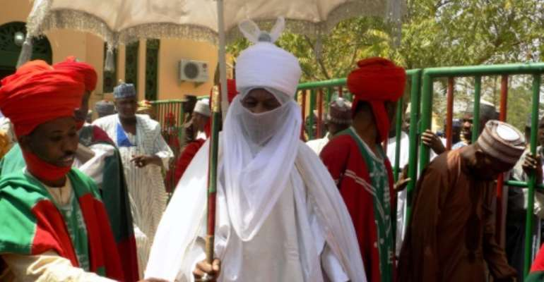 Muhammadu Sanusi II, the traditional leader of northern Nigeria's influential Islamic emirate of Kano, was unceremoniously deposed by the local governor.  By AMINU ABUBAKAR (AFP/File)