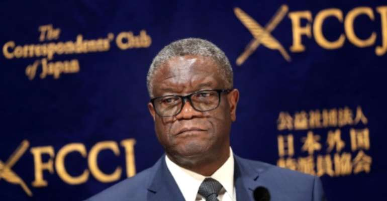 Mukwege is respected the world over for his pioneering work.  By Behrouz MEHRI (AFP)