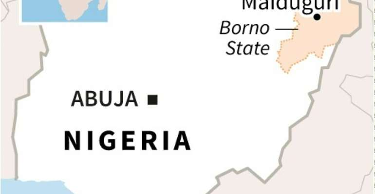 Multiple inhabitants of Gajiganna village, 50 kilometres (30 miles) from state capital Maiduguri, said a military jet targeted jihadists from the Islamic State West Africa Province (ISWAP) after they attacked a nearby military base.  By Sophie RAMIS (AFP/File)