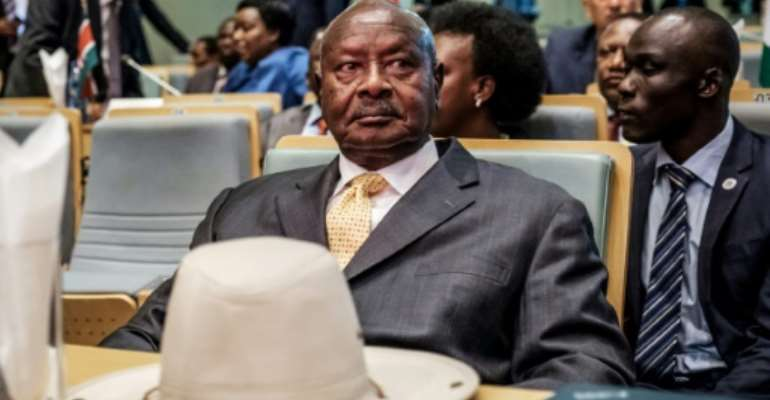 Museveni seized power at the head of a rebel army in 1986.  By EDUARDO SOTERAS (AFP/File)