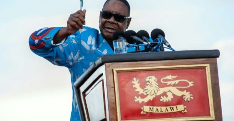 Mutharika faces a tough battle to hold on to office.  By AMOS GUMULIRA (AFP/File)