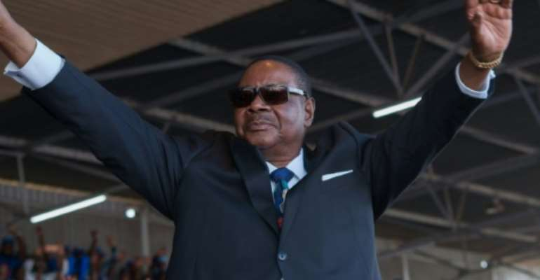 Mutharika's re-election spawned months of protests.  By AMOS GUMULIRA (AFP/File)