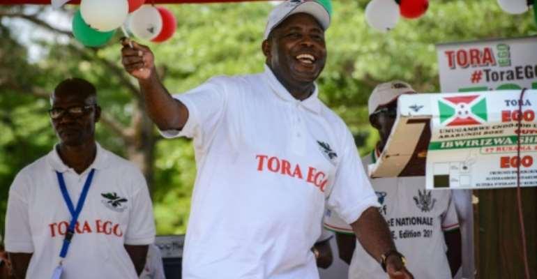 Ndayishimiye is already a key member of Burundi's ruling elite.  By STR (AFP/File)