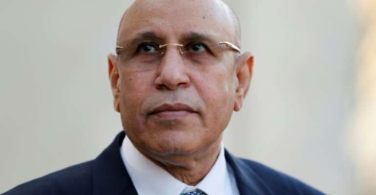 New president: Mohamed Ould Cheikh El Ghazouani  took office in August last year.  By REGIS DUVIGNAU (POOL/AFP/File)
