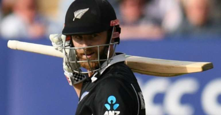 New Zealand captain Kane Williamson led his side to victory in the World Cup match against South Africa.  By Oli SCARFF (AFP)