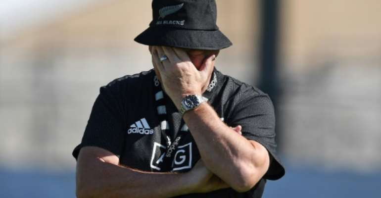 New Zealand's head coach Steve Hansen said his Springboks opposite number was trying to put pressure on the referee ahead of their Rugby World Cup clash.  By CHARLY TRIBALLEAU (AFP)
