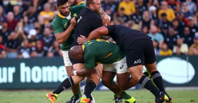 New Zealand's Joe Moody warned that there was still plenty of room for improvement despite winning on Saturday.  By Patrick HAMILTON (AFP)