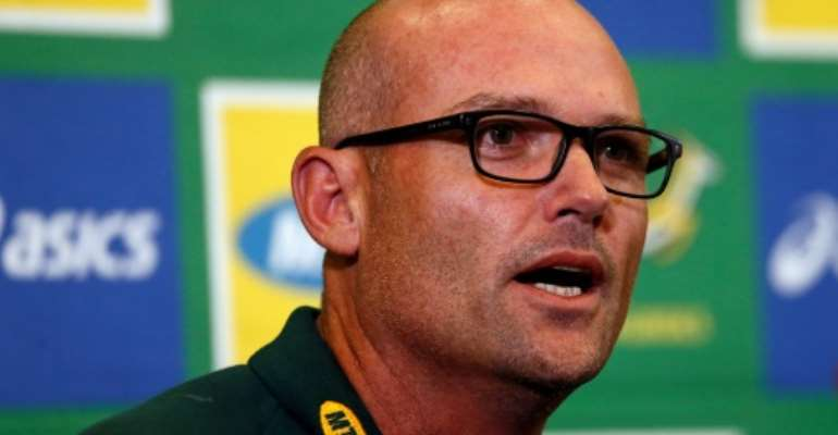 Newly appointed Springboks head coach Jacques Nienaber.  By Phill Magakoe (AFP)