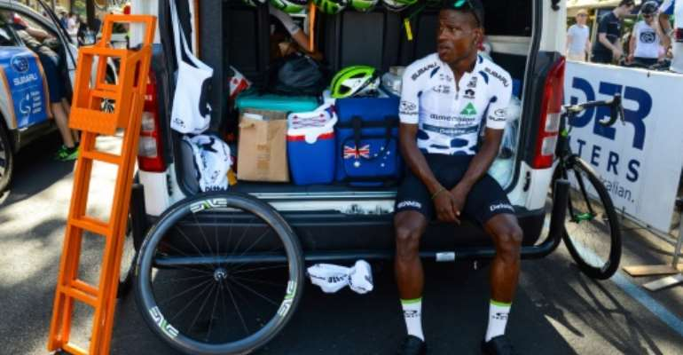 Nicholas Dlamini has come a long way from his township childhood and says his mission is to inspire youngsters back home.  By BRENTON EDWARDS (AFP/File)