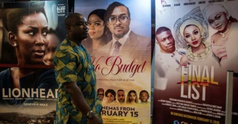 Nigeria has a thriving entertainment industry, but many of its stars and workers struggle to earn money.  By CRISTINA ALDEHUELA (AFP/File)