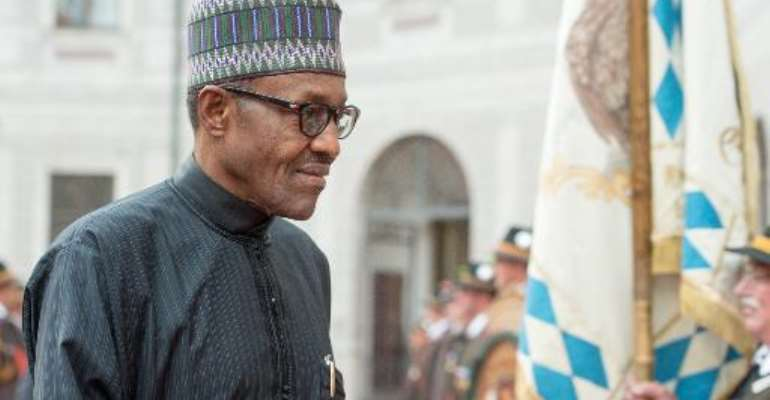 Nigeria's new President Muhammadu Buhari, pictured on the sidelines of a G7-summit in Munich, on June 7, 2015, holds talks with regional leaders on Boko Haram, with hopes a new fighting force will help crush the Islamists.  By Armin Weigel (DPA/AFP/File)