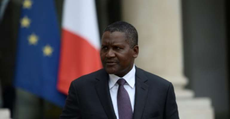 Nigerian billionnaire Aliko Dangote: 'There are ups and downs'.  By STEPHANE DE SAKUTIN (AFP)