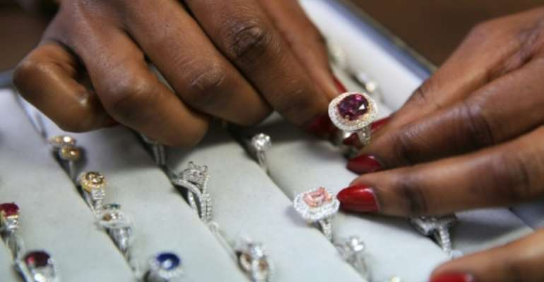 Nigerian Thelma West is a rare gem in the diamond world as a woman in a male-dominated sector with few Africans, despite the continent being the main source of the precious rocks.  By Daniel Leal-Olivas (AFP)