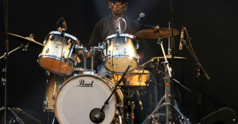Nigerian drummer Tony Allen, who pioneered Afrobeat alongside his old band mate Fela Kuti, was working on a new project to showcase a new generation of stars when he died last year.  By LUDOVIC MARIN (AFP/File)