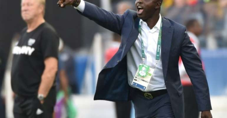 Nigerian FA say they will fight to clear Samson Siasia, who coached their team at the 2016 Olympics.  By NELSON ALMEIDA (AFP/File)
