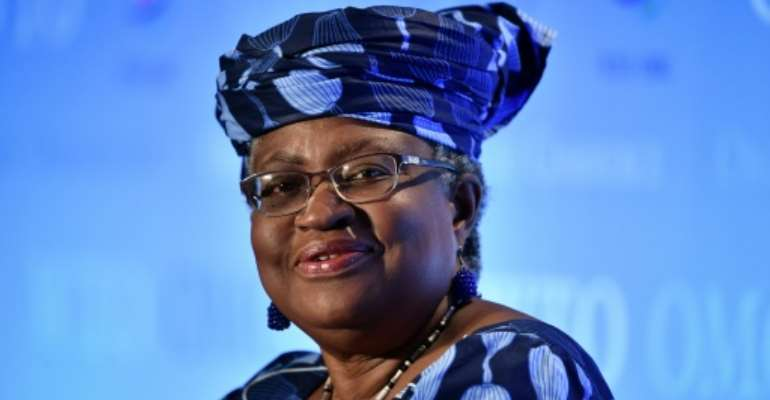 Nigerian former Foreign and Finance Minister Ngozi Okonjo-Iweala is one of two remaining candidates to lead the WTO.  By Fabrice COFFRINI (AFP/File)