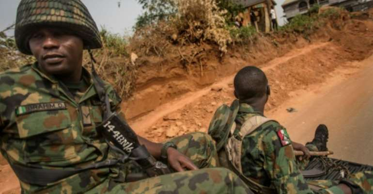 Nigerian soldiers have been caught up in a jihadist insurgency for more than a decade.  By CRISTINA ALDEHUELA (AFP)
