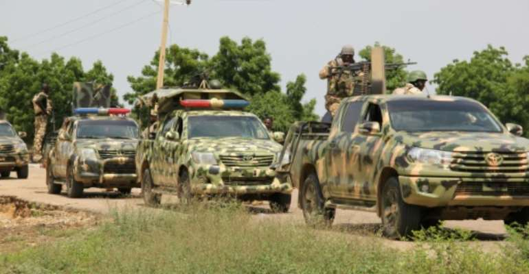 Nigerian soldiers have pulled back into