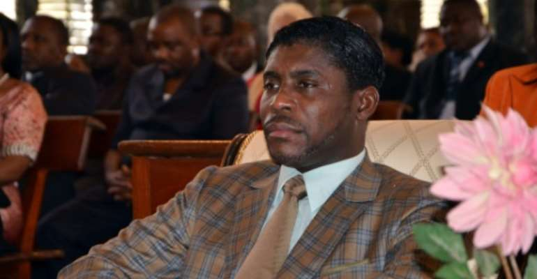Teodorin Nguema Obiang, the son of Equatorial Guinea's president Teodoro Obiang and one of the country's vice-presidents, is accused of money laundering and misappropriating public funds.  By Jerome Leroy (AFP/File)