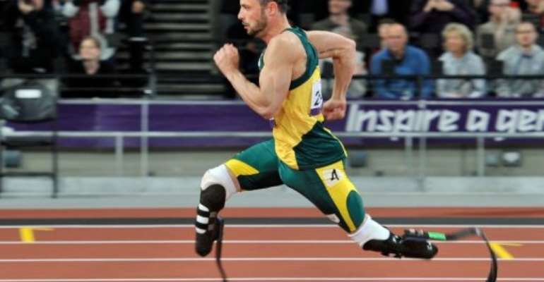 Oscar Pistorius lost his first 200m race in nine years when Brazil's Alan Oliveira came from behind to win.  By Glyn Kirk (AFP)