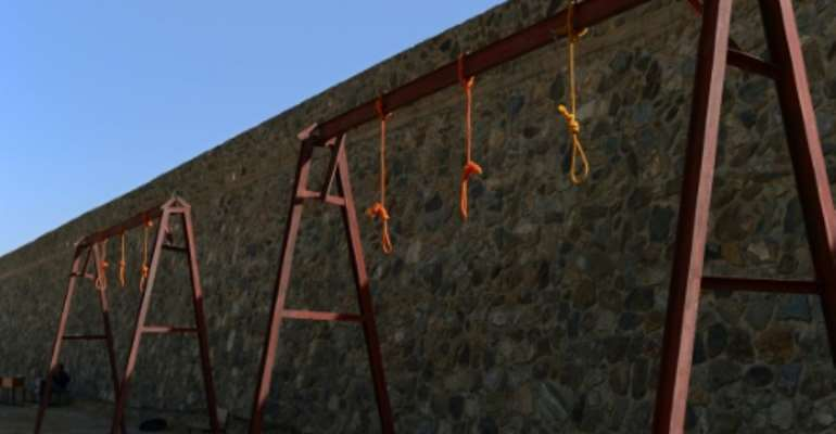 Nooses hang at Pul-e-Charkhi prison on the outskirts of Kabul, Afganistan.  By WAKIL KOHSAR (AFP/File)