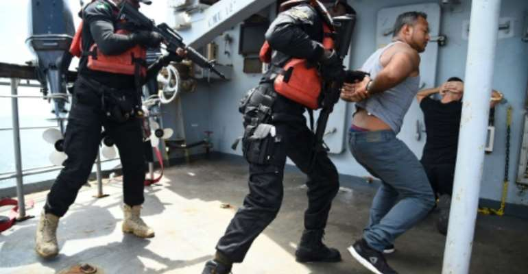 Numerous exercises with Western navies have brought some progress along with better cross-border cooperation after leaders from the region agreed to bolster the fight against piracy in 2013.  By PIUS UTOMI EKPEI (AFP/File)