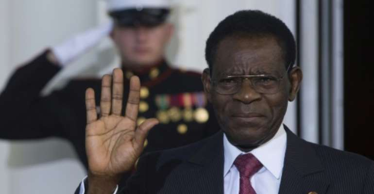 Obiang Nguema will celebrate forty years in office on Saturday, highlighting his status as Africa's longest-serving head of state since he seized power in a 1979 coup.  By Brendan SMIALOWSKI (AFP/File)